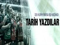Bursa Büyükşehir Belediyespor tarih yazdı