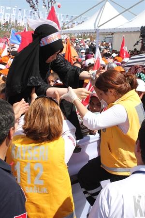 Erdoğan, Kayseri de Toplu Açılış Törenine Katıldı