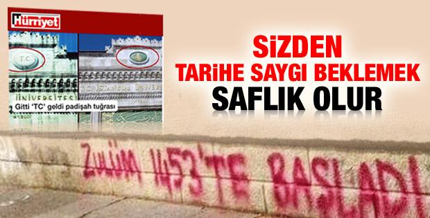 Hürriyet'in Osmanlı tuğrası rahatsızlığı