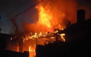 Karaman da Ev Yangını