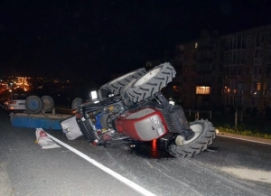Karaman da Traktör Kazası: 1 Yaralı