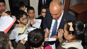 Minik Öğrenciler den Başkan Çalışkan a Ziyaret