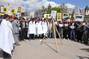 Mısır daki İdam Kararı Karaman da Protesto Edildi
