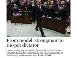 Rosert Fisk'den Erdoğan için çok ağır sözler