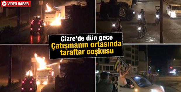 Şırnak'ta eylem ortasında taraftar coşkusu İZLE