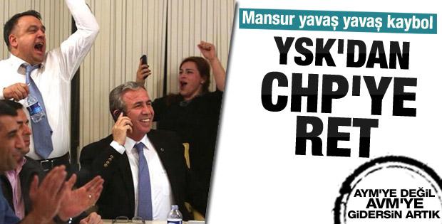 YSK'dan CHP'nin Ankara itirazına ret