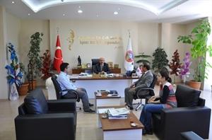 İl Afet Müdürü Doğan dan Başkan Samur a Ziyaret