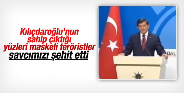 Davutoğlu: Kılıçdaroğlu'nun sahip çıktığı teröristler..