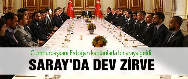 Erdoğan kaptanlarla bir araya geldi!