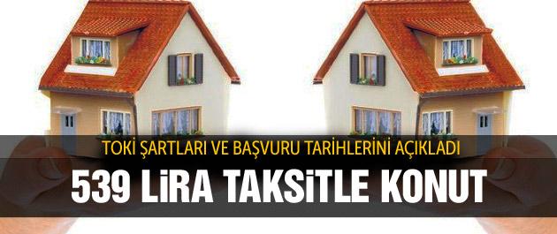TOKİ'den Başakşehir'de 539 lira taksitle konut